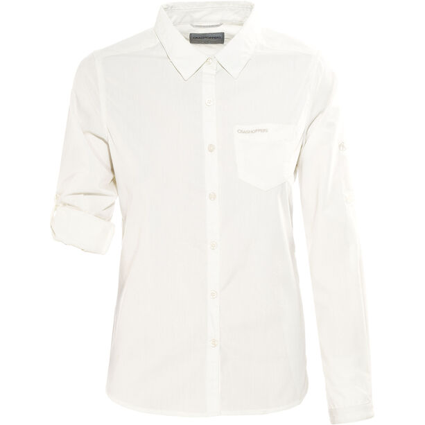 Craghoppers Kiwi Longsleeved Shirt Damen sea salt