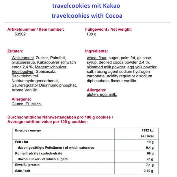 Travellunch Warme Regionen Tagespaket Vegetarisch 7 Stück