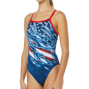 TYR Live Free Diamondfit Swimsuit Damen red/white/blue red/white/blue