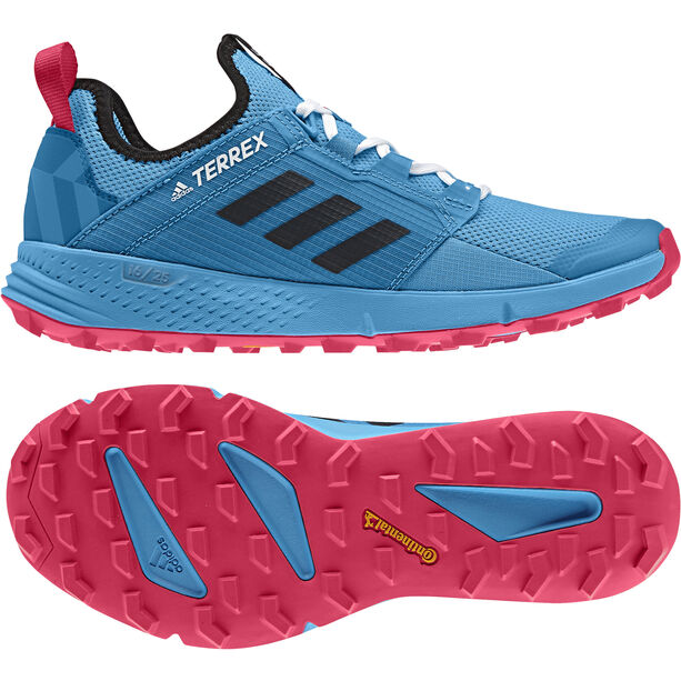 adidas TERREX Agravic Speed+ Schuhe Damen shock cyan/core black/active pink
