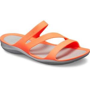Crocs Swiftwater Sandals Damen bright coral/light grey bright coral/light grey