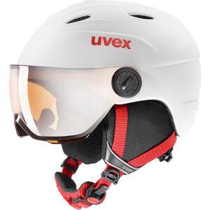 UVEX Junior Visor Pro Helmet Kinder white-red mat white-red mat