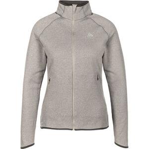 Odlo Carve Ceramiwarm Full-Zip Midlayer Damen grey melange grey melange