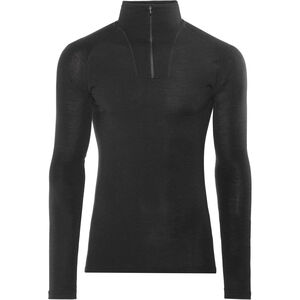 Woolpower Lite Zip Turtle Neck black black