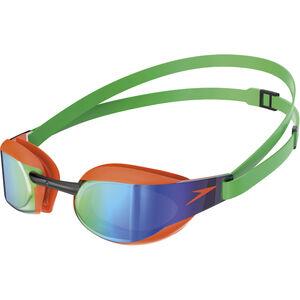 speedo Fastskin Elite Mirror Goggles fluo orange/lawn green