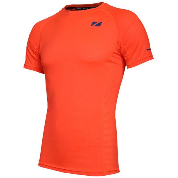 Zone3 Activ Lite CoolTech T-Shirt Herren fire orange/navy