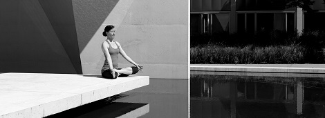 Yoga Meditation auf der Terrasse