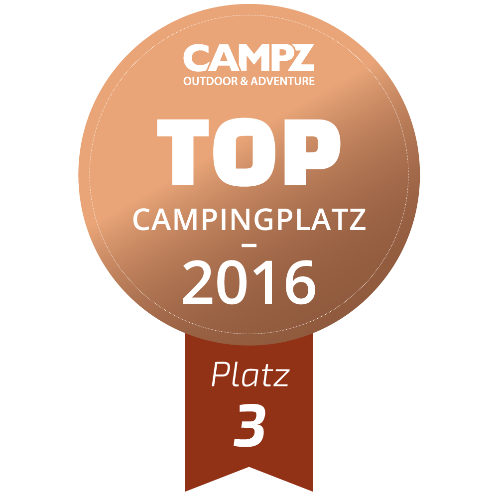 Siegel - Top Campingplatz 2016 - Platz 3