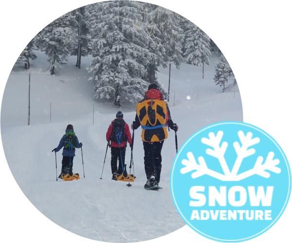 Schneeschuhtour mit Zipflbobabfahrt