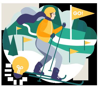 Langlauf lernen: Langlaufkurs für Anfänger