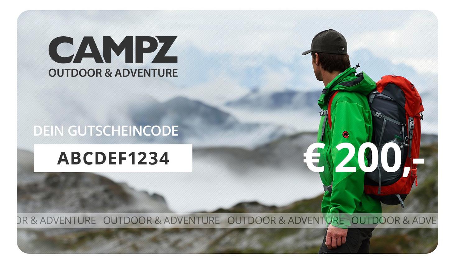 Campz Gutschein über 200 Euro