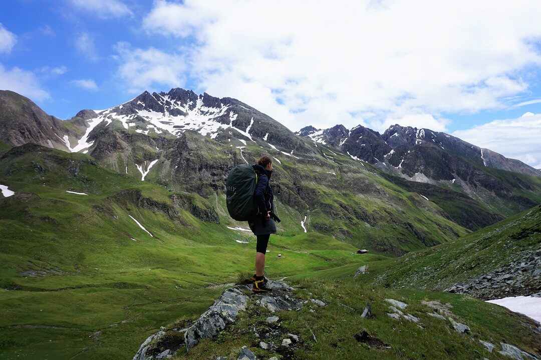 Pfunderer Höhenweg Etappe 2 - Aussicht auf Wurmaulspitz und Brixener Hütte