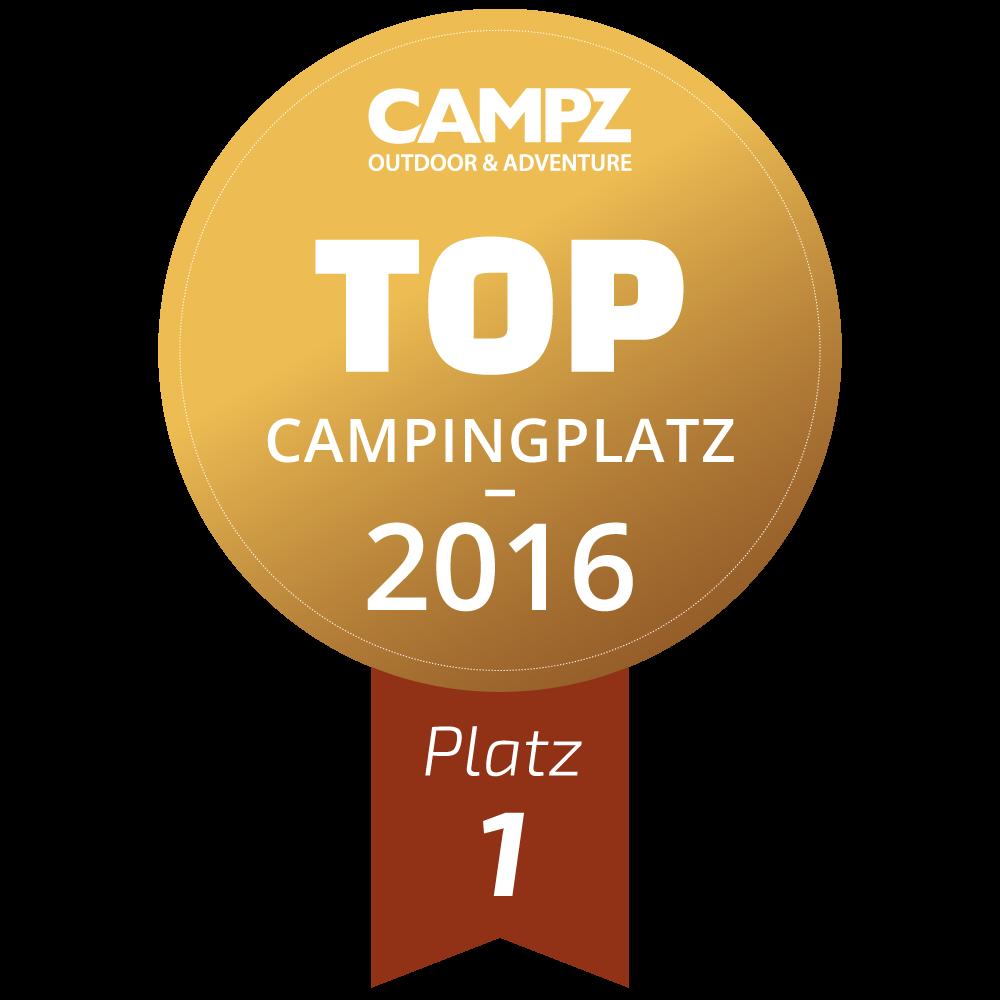 Siegel - Top Campingplatz 2016 - Platz 1