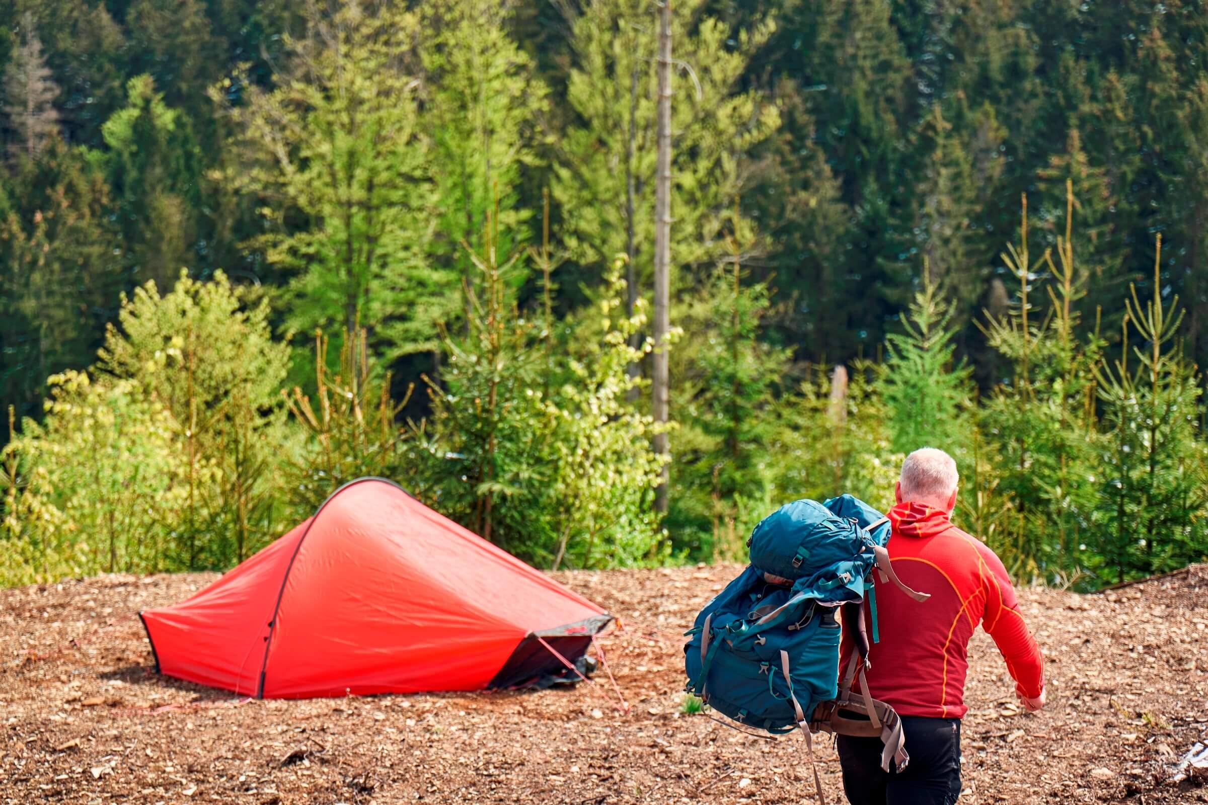 Auf dem Weg zum Trekkingplatz mitten im Frankenwald