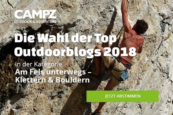 Banner zur Wahl des Top Outdoorblogs 2018