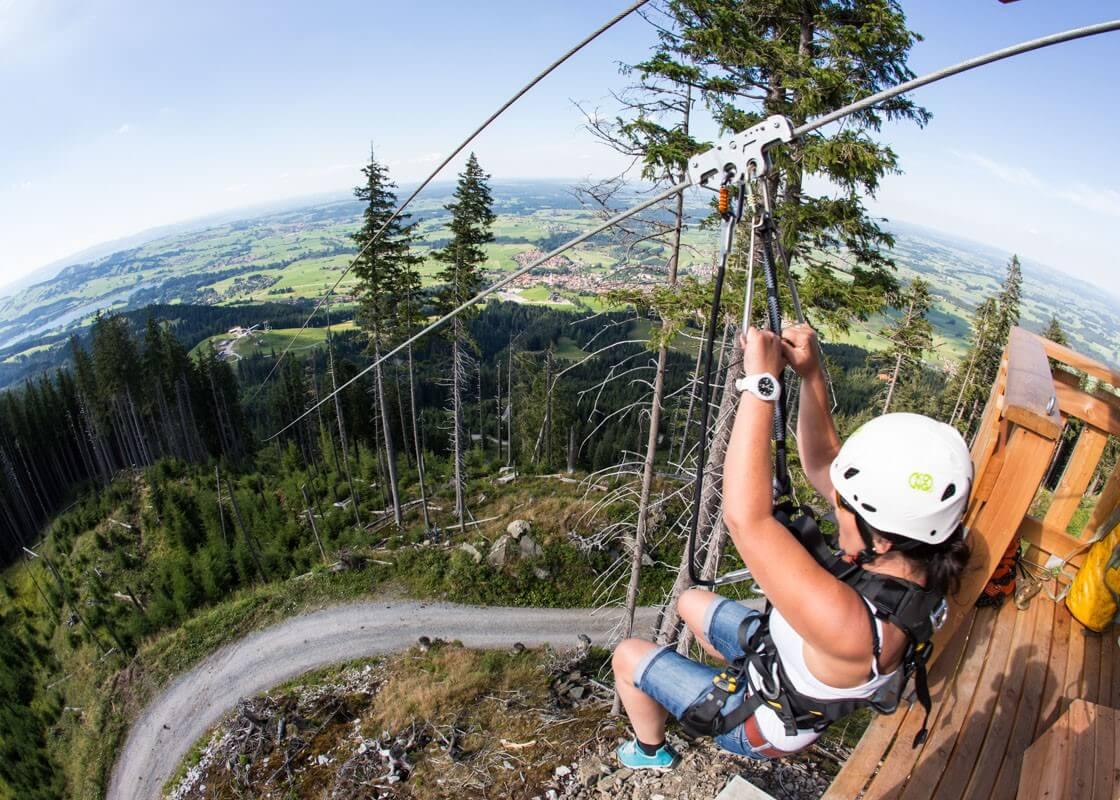 Mini-Abenteuer - Ziplining in luftiger Höhe
