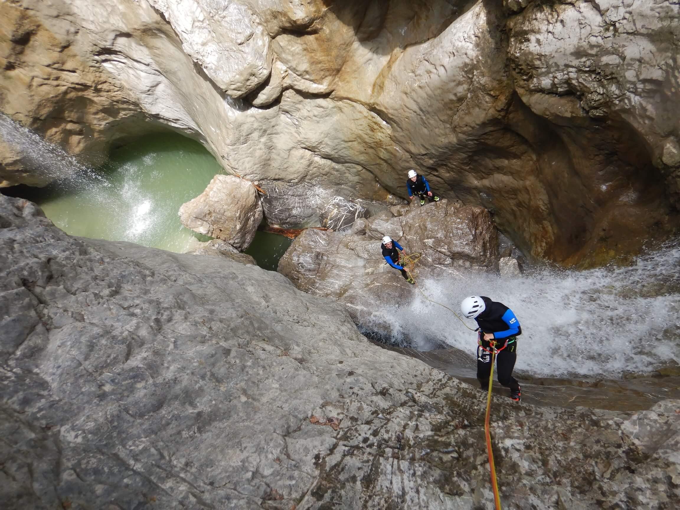Canyoning Tour in Vorarlberg in der Kobelach