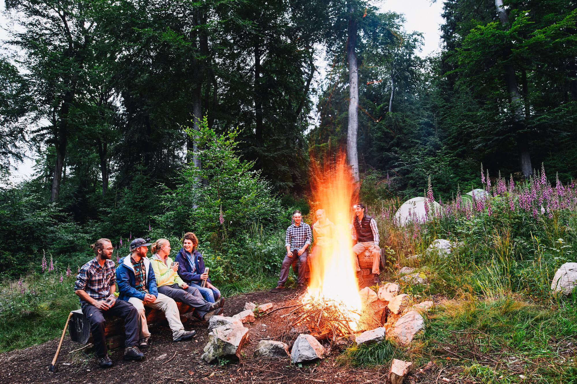 Lagerfeuer am Trekkingcamp