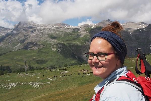 Bloggerin Anne von Little Red Hiking Rucksack Nachhaltigkeit beim Wandern