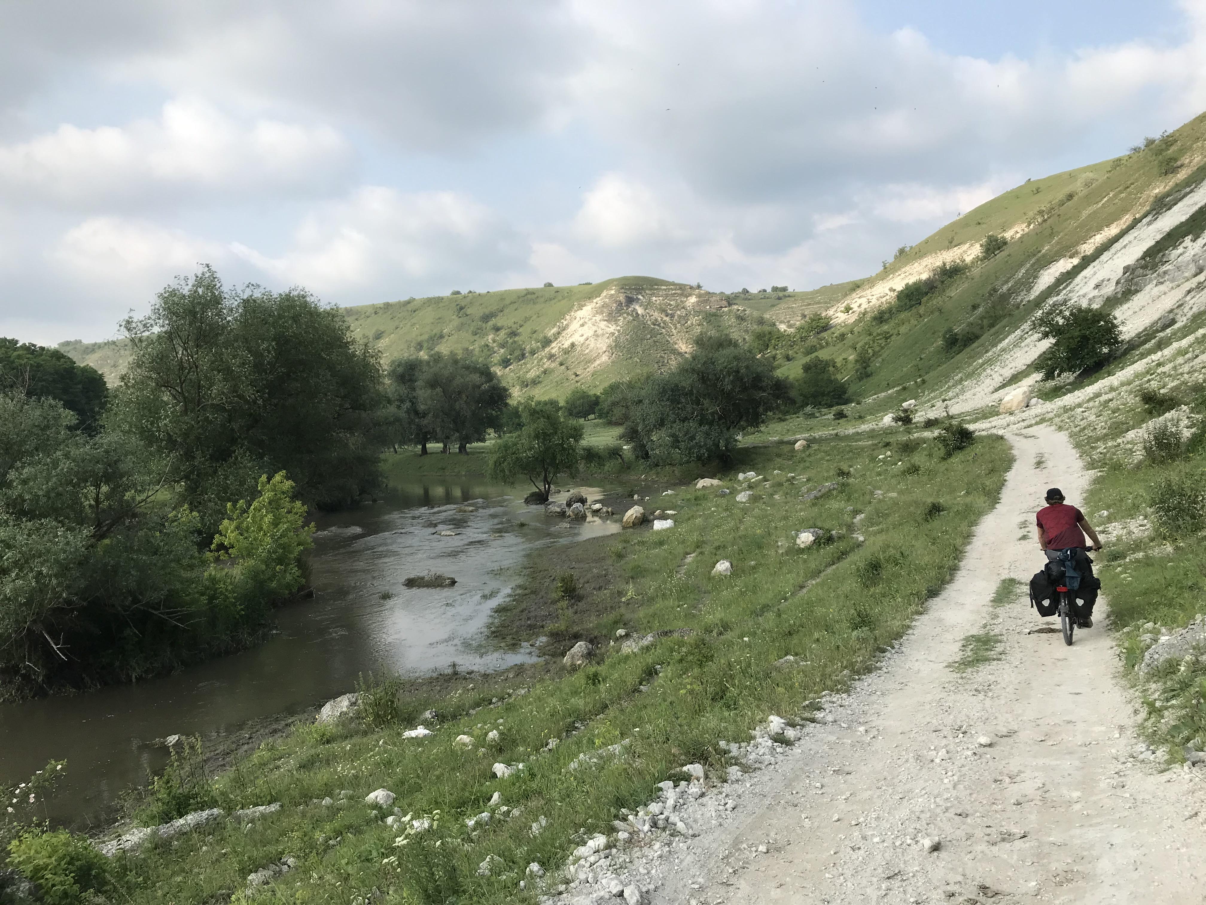 Schotterwege auf der Radreise