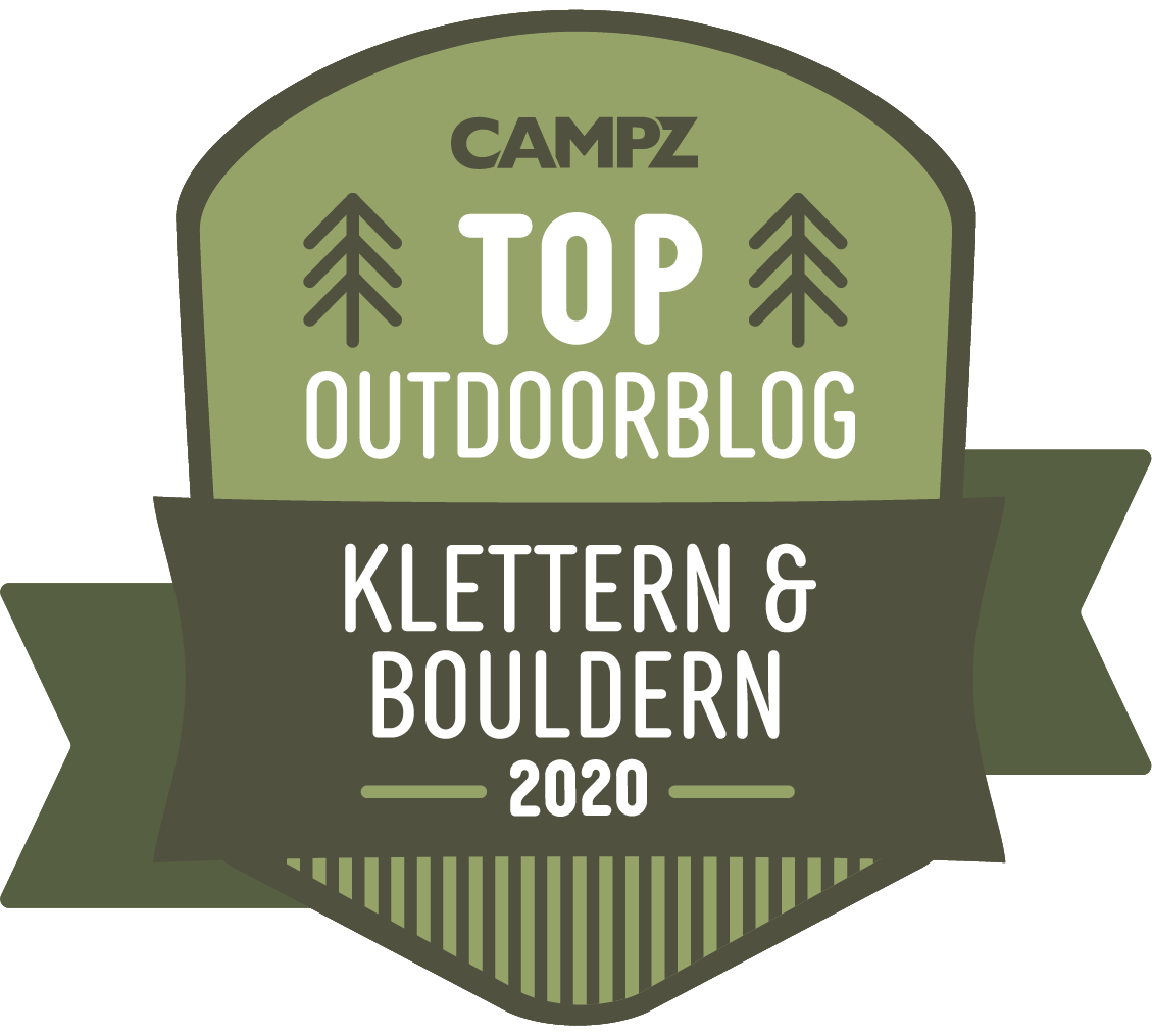 Siegel Top Outdoorblog 2020 in der Kategorie Klettern & Bouldern