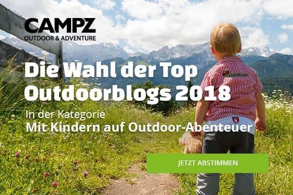 Banner zur Wahl zum Top Outdoorblog 2018