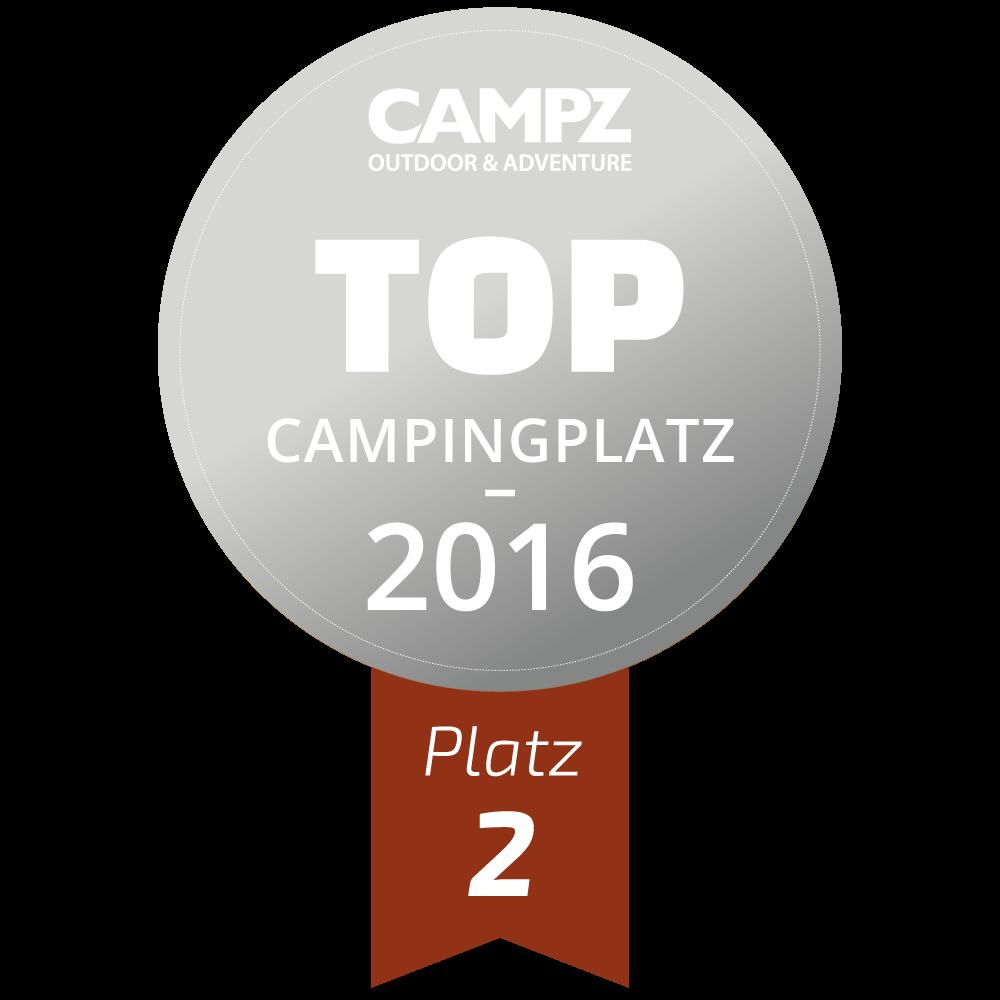 Siegel - Top Campingplatz 2016 - Platz 2