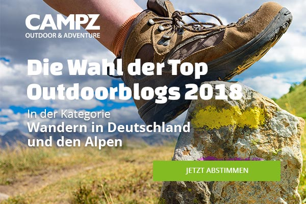 Banner zur Wahl des Top Outdoorblogs 2018