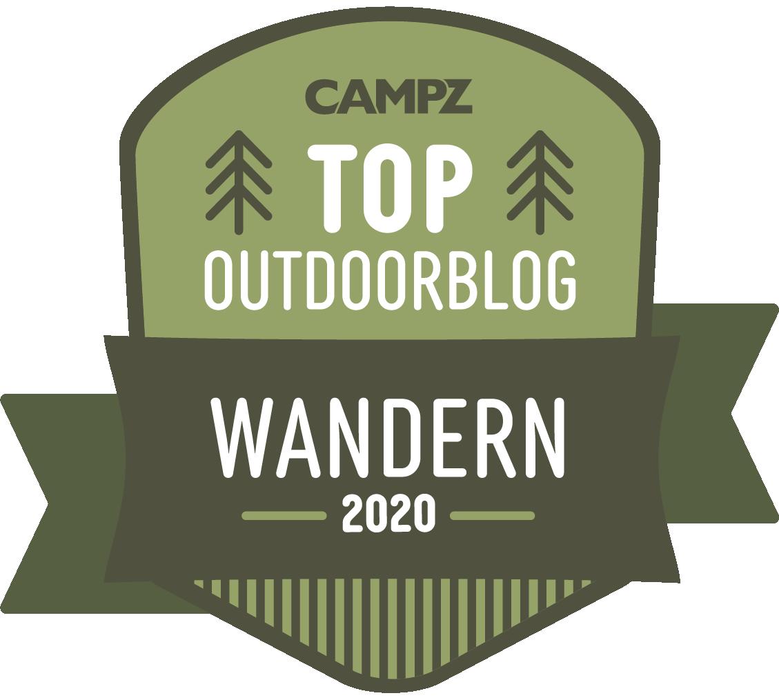 Siegel Top Outdoorblog 2020 in der Kategorie Wandern in der Heimat