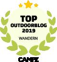 Siegel Top Outdoorblog Wandern 2019