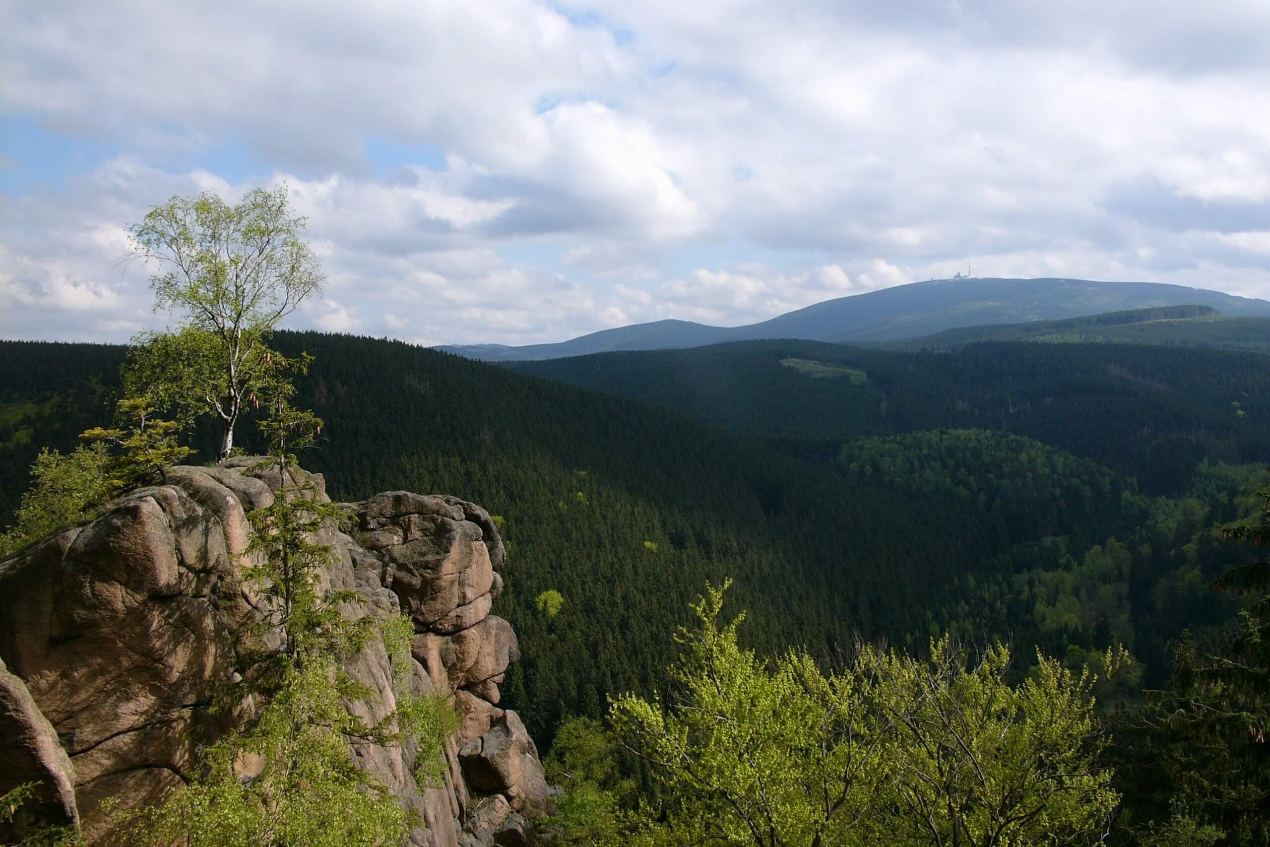 Nationalpark Harz - Brockenblick von der Rabenklippe