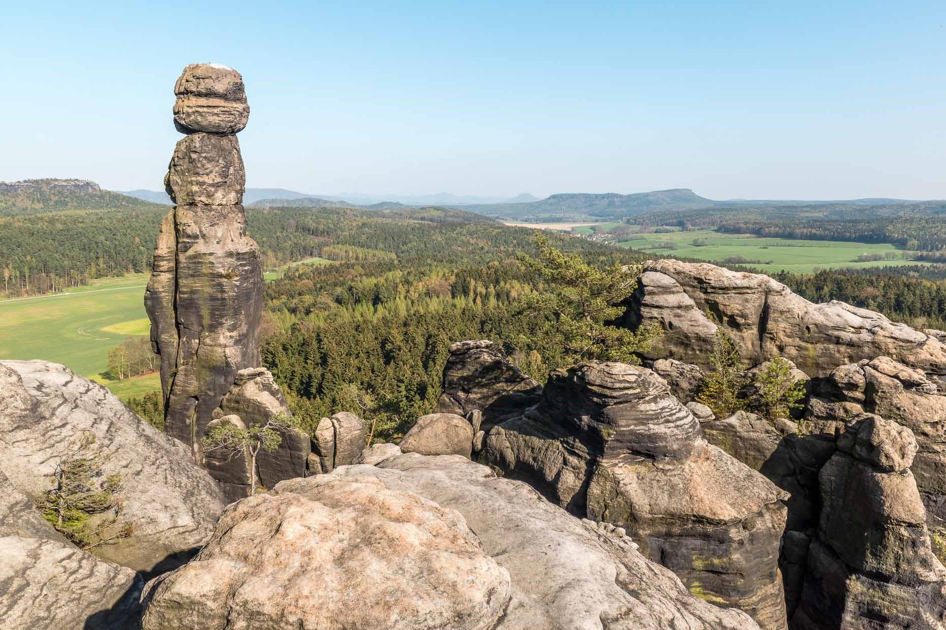 Nationalpark Sächsische Schweiz - Barbarine am Pfaffenstein