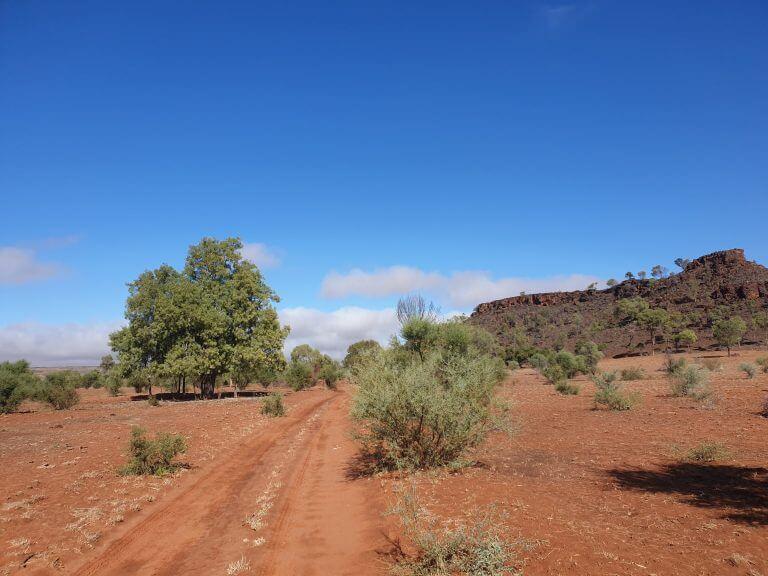 Laufen im australischen Outback - sandige Pisten
