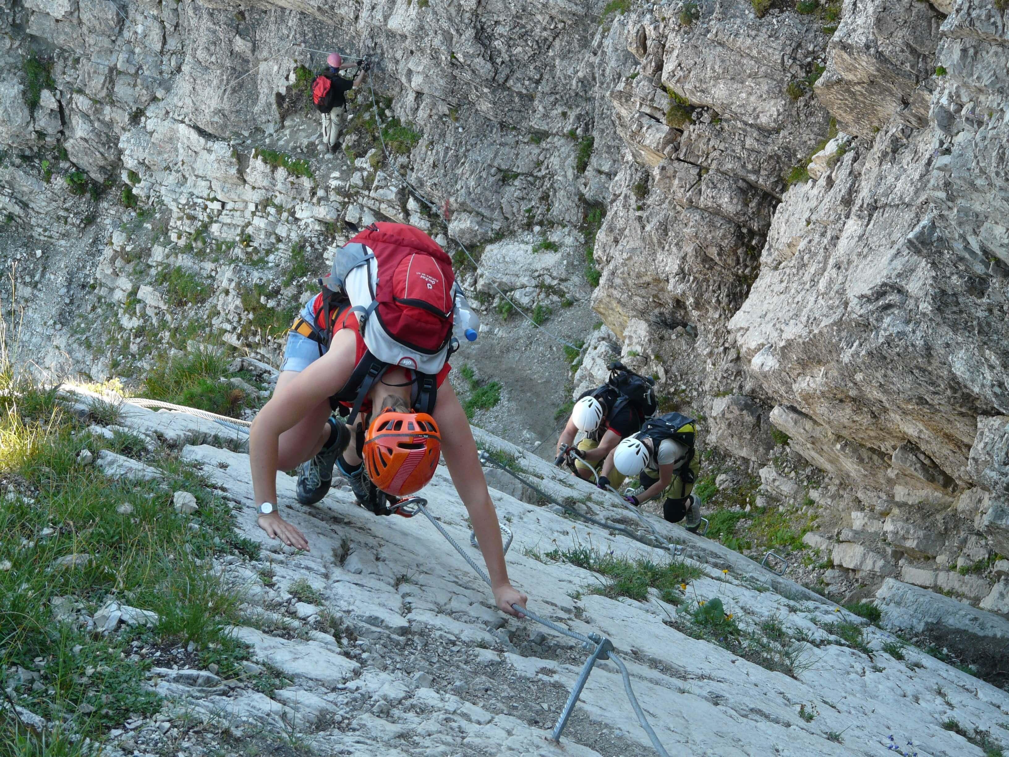 Klettersteig am Fels
