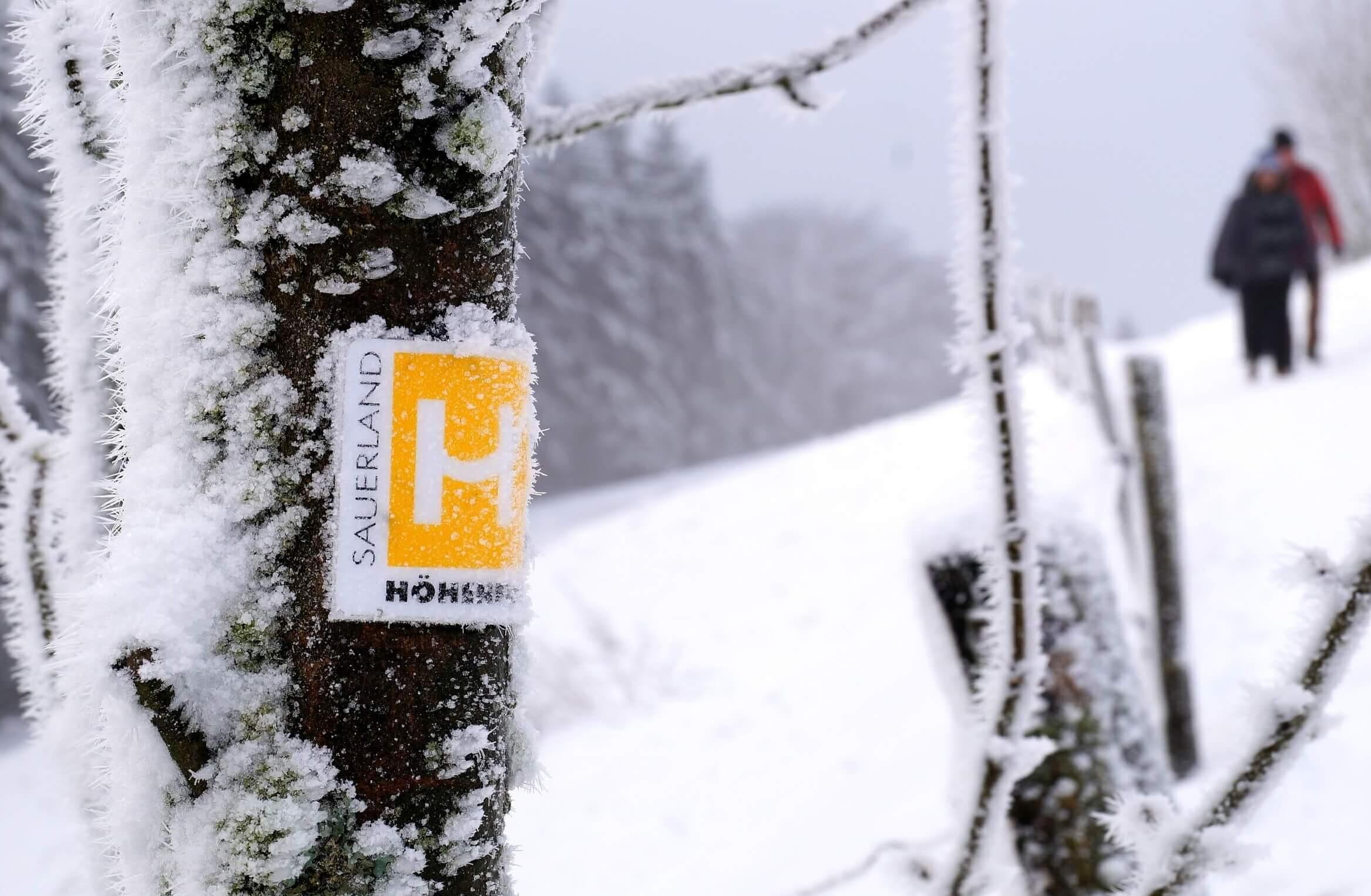 Unterwegs auf dem Sauerländer-Höhenflug im Winter