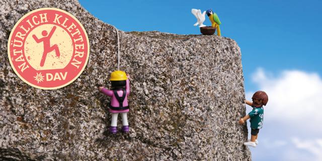 DAV Kampagne Natürlich Klettern
