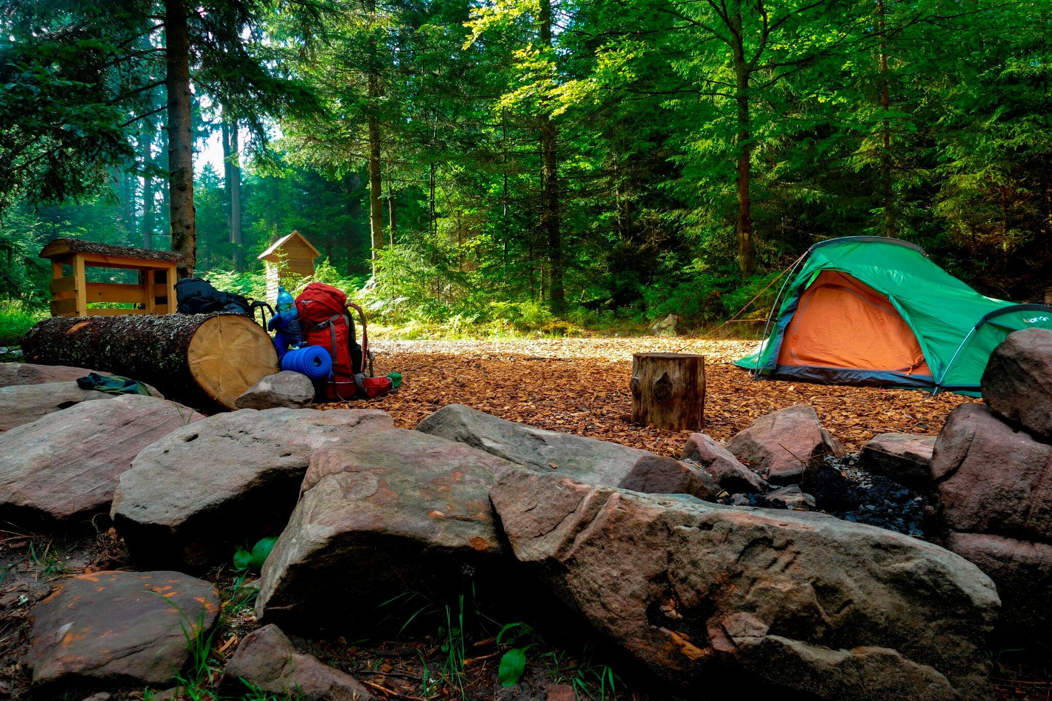 Übernachten im Trekking-Camp im Schwarzwald