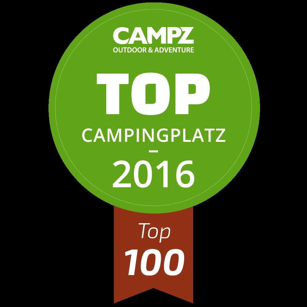 Siegel - Top Campingplatz 2016 - Top 100