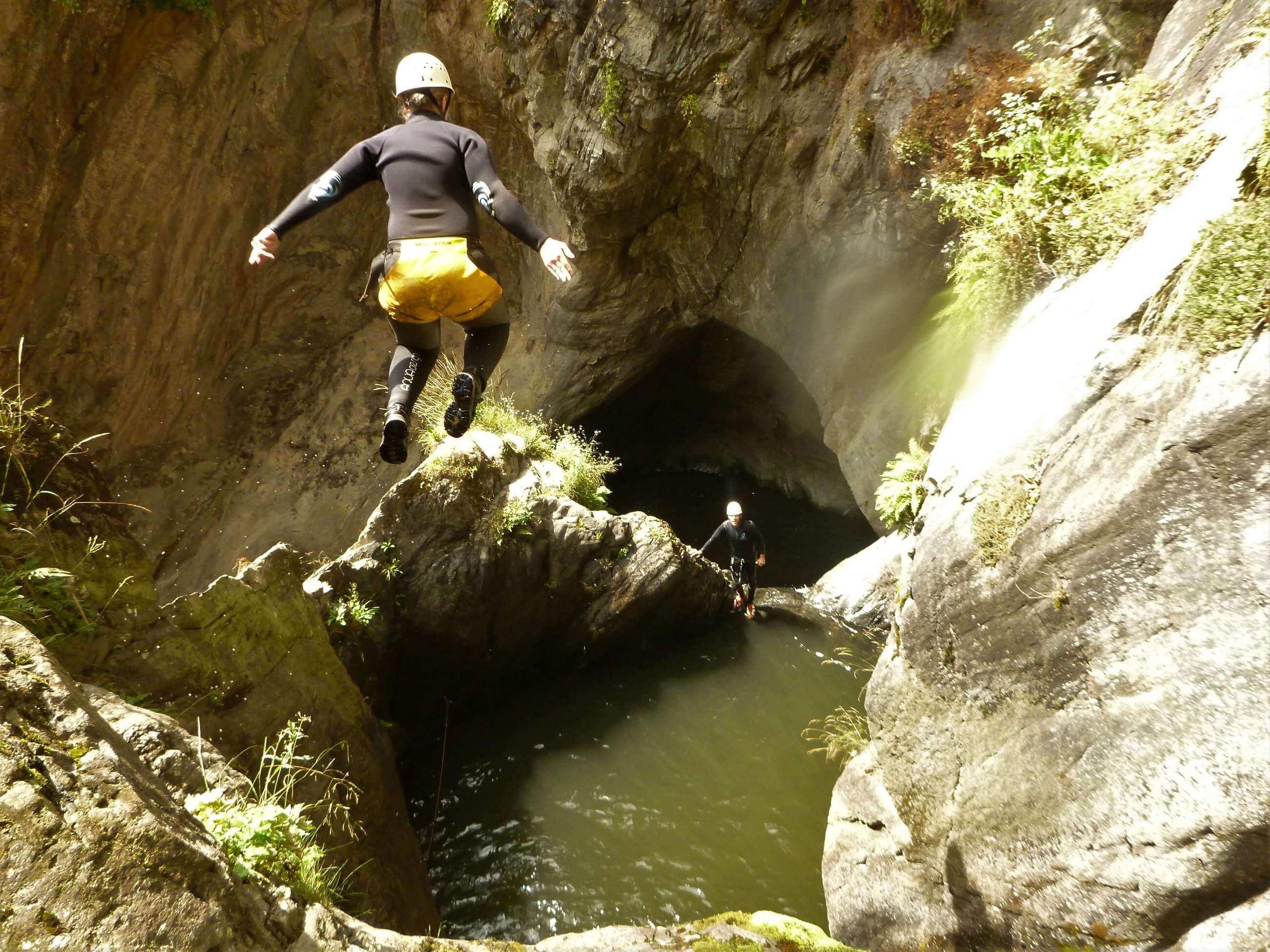 Canyoning Tour im Ötztal in der Auerklamm