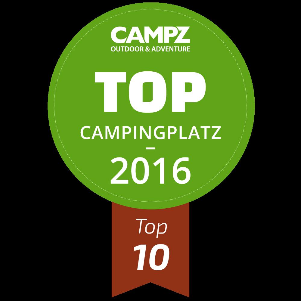 Siegel - Top Campingplatz 2016 - Top 10