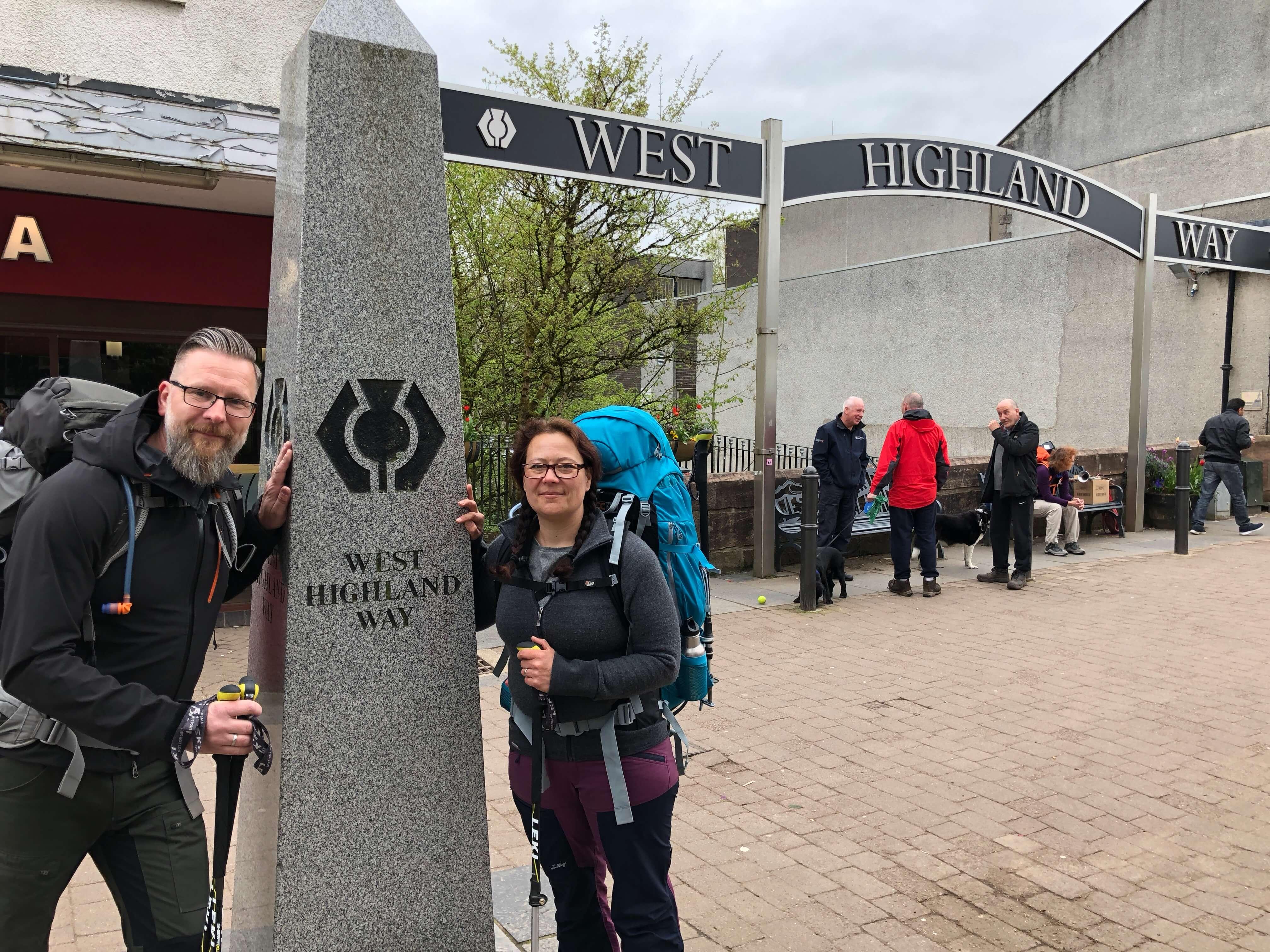 West Highland Way - Tag 1 - Milngavie