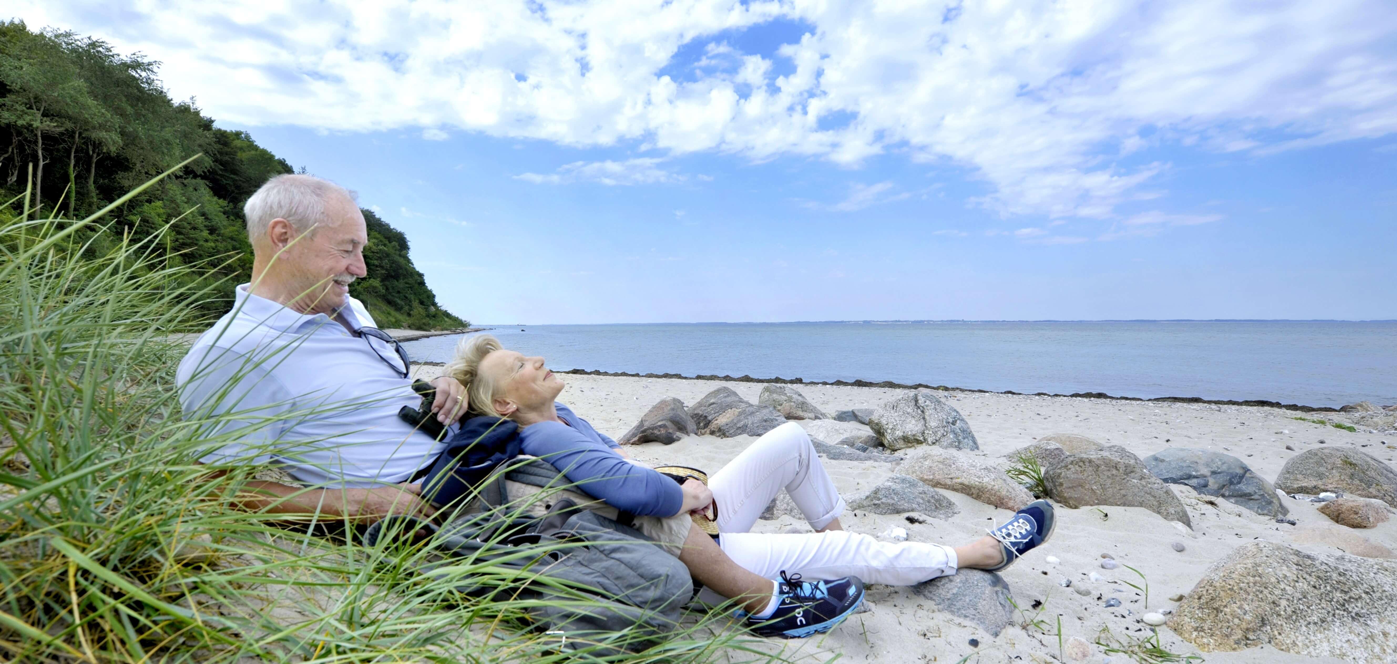 Von Strande nach Eckernförde an der Ostsee