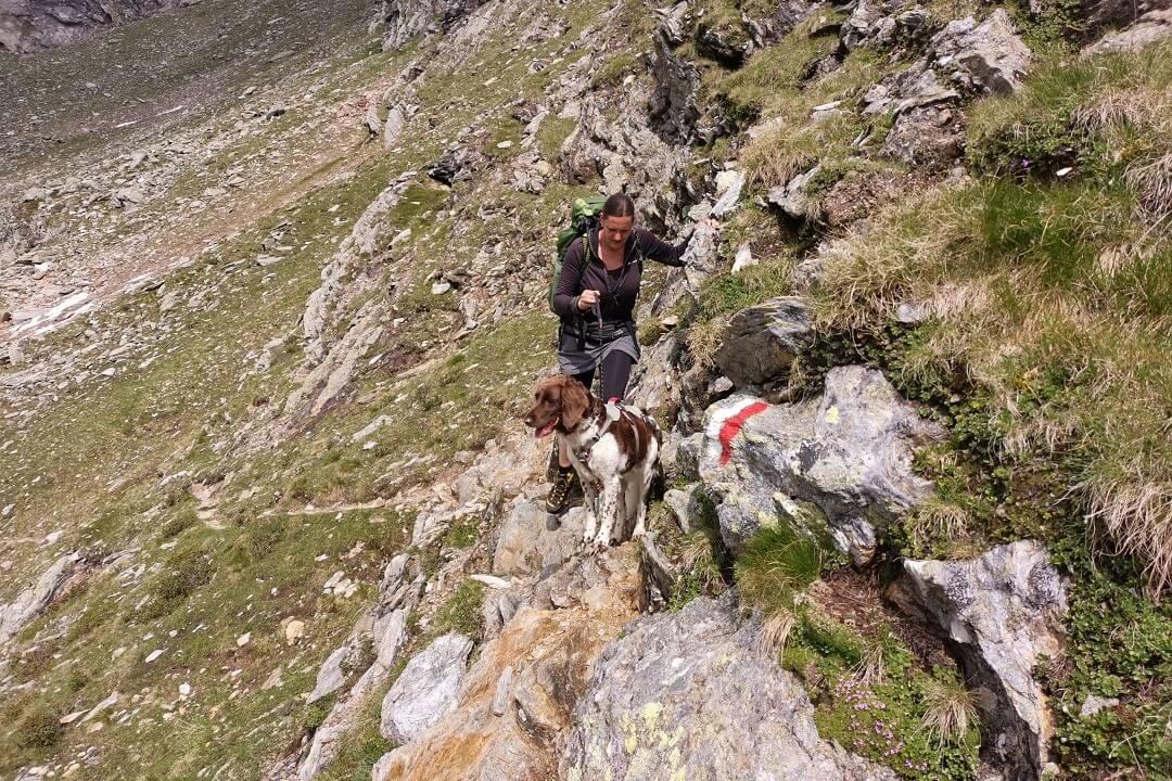 Pfunderer Höhenweg Etappe 3 - ausgesetzte Passage
