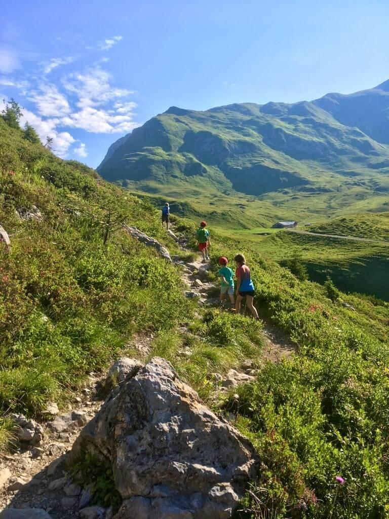 Zur Ravensburger Hütte - die zweite Etappe der Hüttenübernachtung