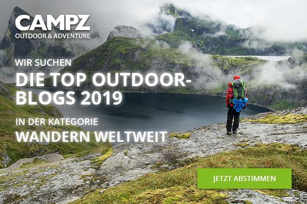 Banner zur Wahl zum Top Outdoorblog 2019