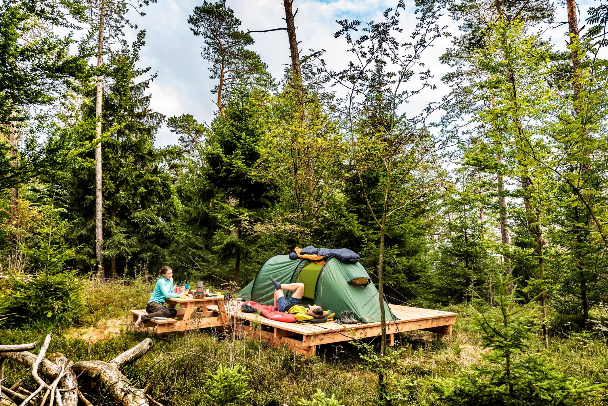Naturlagerplatz für Wanderer in der Eifel
